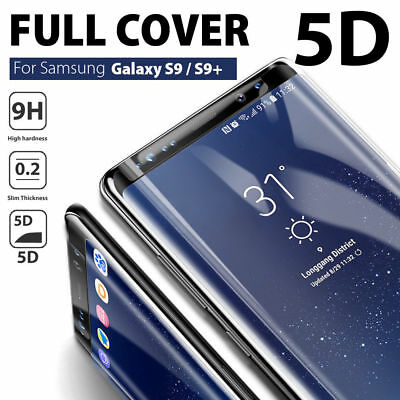 Samsung Galaxy S9+ S8 Plus Note 8 5D Tempered Glass Full Cover Screen Protector