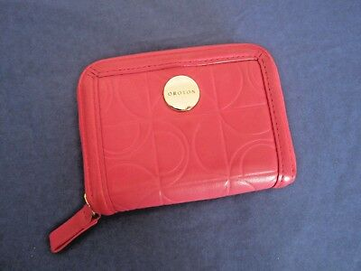 XLNT-OROTON-Small,Roomy,3-Side Zip Wallet/Purse-Pink Leather-Day or Evening Wear