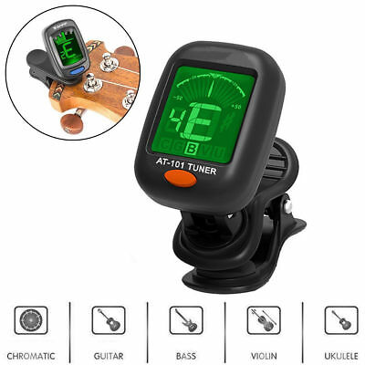 LCD Clip-on Digital Chromatic Electronic Guitar Tuner Bass Banjo Violin Ukulele