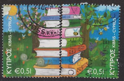 b272)  Cyprus. 2010. Used. SG 1219,1220. 51c. Children's Books. Europa