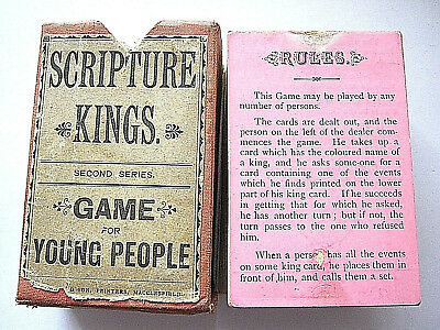 Scripture Kings Very Rare Georgian Antique Playing Card Game 90 Cards 1830 - 40
