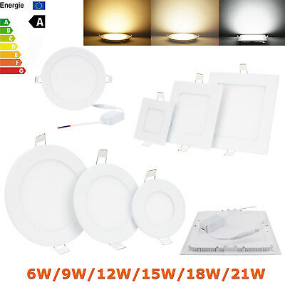 Dimmable Ranpo Recessed LED Panel Light 6W 9W 12W 15W 18W 21W Ceiling Downlight