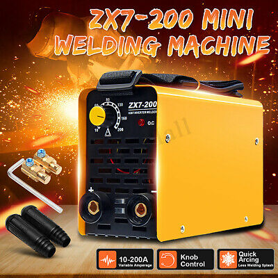 Portable MMA ARC Welding Machine Stick Welder IGBT DC Inverter 10-200AMP ZX7-200