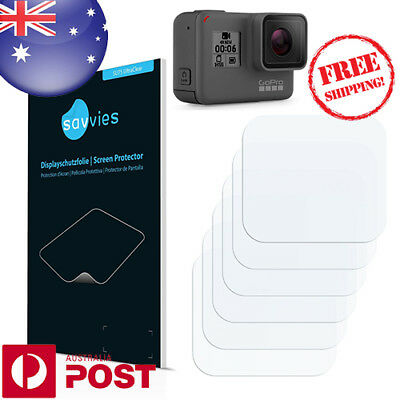 6x Savvies SU75 Screen Protector for GoPro Hero6 Black (Front screen) - P002BF
