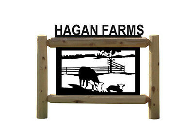 Personalized Cow Sign - Hereford Cattles - Farm & Country Outdoor Signs