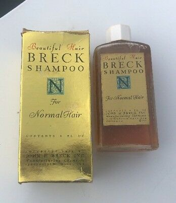 Full Bottle Of Breck Shampoo In Original Box 1962