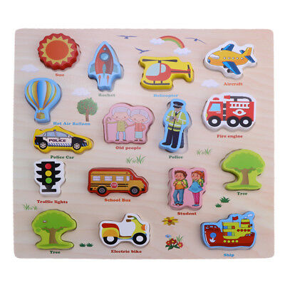 Wooden Puzzles Jigsaws Toy for Kids Children Preschool Study Toy Xmas Gift
