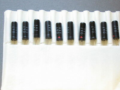 10 x OA7 Germanium gold-bonded Diode  -  Glasgehäuse  PHILIPS