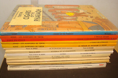 Set of 15 French Language Asterix/Tintin  Books, Mixed Condition & Age