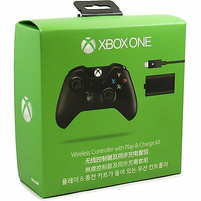 NEW Official Microsoft Xbox One Wireless Controller and Play & Charge Kit NIB