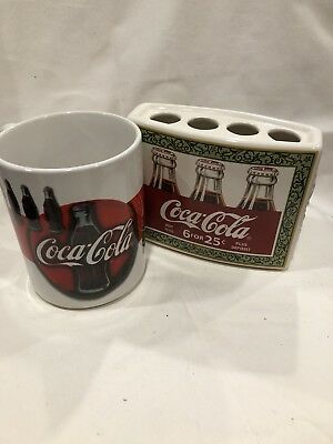 Coca-Cola Bathroom Cup & Toothbrush Holder & FREE SHIPPING