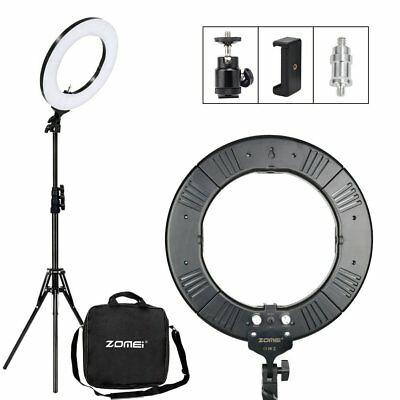 """14"""" LED Photography Ring Light Dimmable 5500K Lighting Photo Video Stand Kit"""