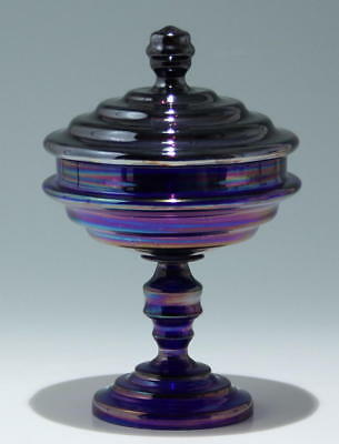 Art Deco Deckelpokal - Made in Czechoslovakia          #6430