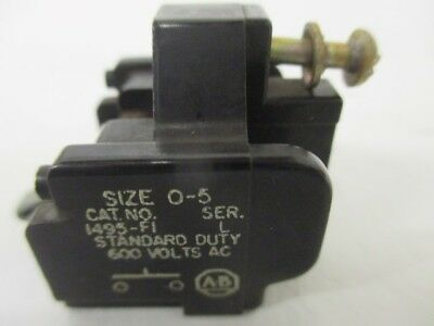 Allen Bradley 1495-F1 Ser. L Auxiliary Contact *used*