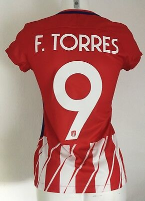 Atletico Madrid 2017/18 Home Shirt Torres 9 By Nike Ladies Small Thin Lettering