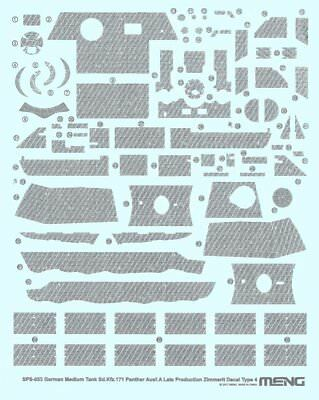 MENG MODEL SPS-053 Zimmerit Decals (D) for Sd.Kfz.171 Panther Late in 1:35