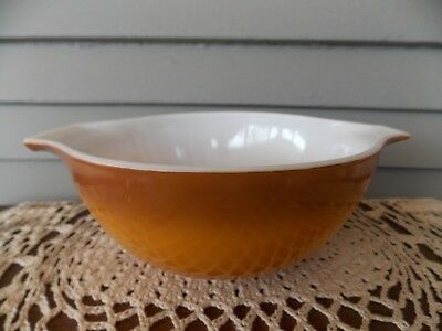 VINTAGE PYREX OLD Orchard Two Tone Brown Cinderella Mixing Bowl 1 1 ...