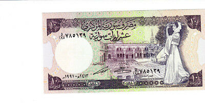 10 Pounds  Aunc-Unc Banknote From Syria 1991!pick-101