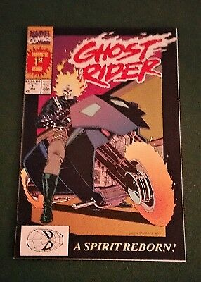 One COPPER Age Marvel Ghost Rider comic - #1 May 1990 - A Spirit Reborn