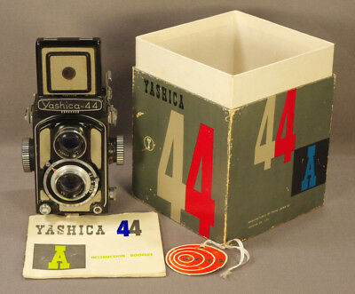 Yashica 44A TLR Camera, 35mm LOMO Adapted, Box, Manual; FIlm-Tested; Warranty