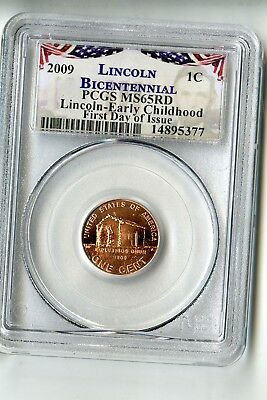 2009 Lincoln Bicentennial Penny PCGS MS65 RD First Day Of Issue