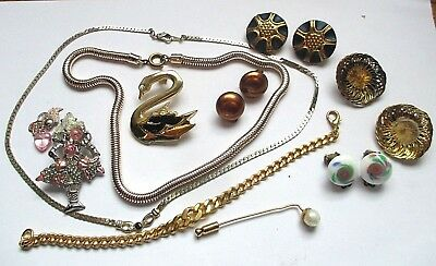 Lot vintage jewellery  WEAR/REPAIR lot bijoux vintage à réparer 10 pièces lot 1