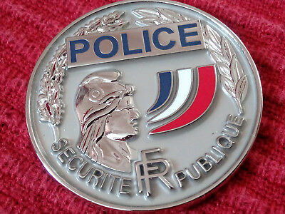 01 Coin Insigne Medaille Plaque Police Badge Piece Monnaie Securite
