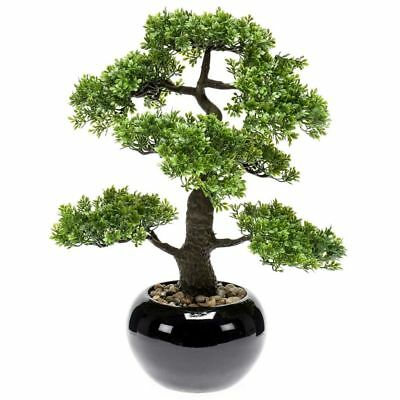 Emerald Ficus Artificiale Mini Bonsai Piante Finte Pianta Finta Alberello 47 cm#