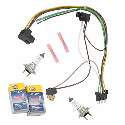 D124R HEADLIGHT WIRING Harness Repair Kit Right For Mercedes