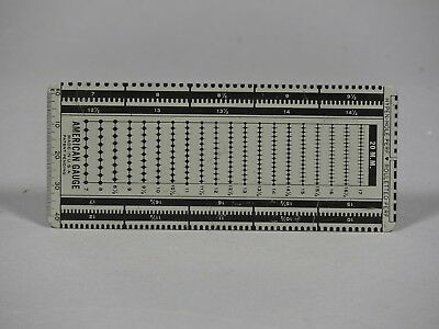 Vintage Perforation Gauge - Hypen Hole Perf Rouletted Perf by American Gauge