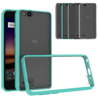 Slim Hybrid Clear TPU Case Shockproof Phone Cover For ZTE ZFIVE G LTE Z557BL