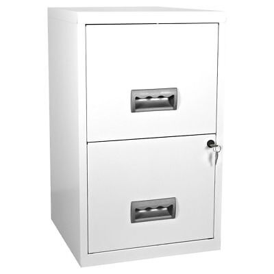 NEW Pierre Henry A4 Lockable 2 Drawer Maxi Filing Cabinet - White