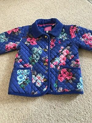 Girls Joules Coat Age 18-24 Months