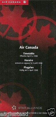 Airline Timetable - Air Canada - 05/04/98