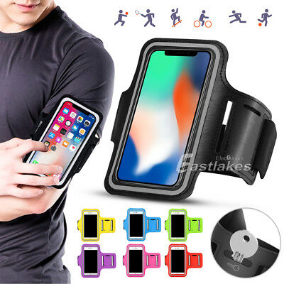 Sports Gym Running Exercise Armband Apple iPhone XS Max XR X 8 P Samsung Note 9