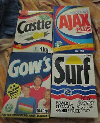 Rare! Old Vintage 1980's Collection 4 X Unopened Full Washing Powder 1 Kg Boxes!
