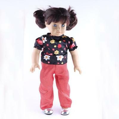 Fashion Dolls Top Pants Clothes for 18inch Our Generation American Girl Doll