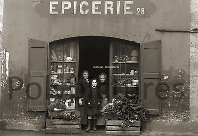 Photo Antique Trade Toulouse Store Grocery Primeur Vegetables Repro an.1920