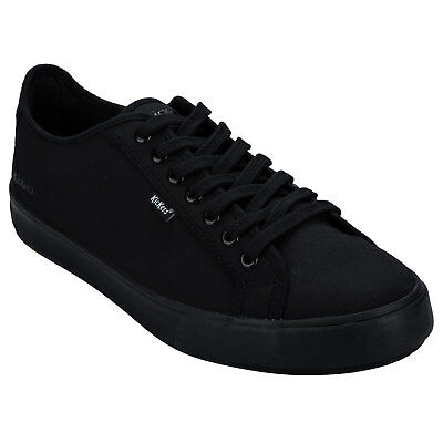 Men's Kickers Tovni Lace Text Shoes In Black