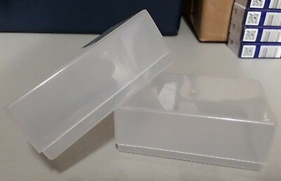 10 x BUSINESS CARD BOXES CLEAR PLASTIC CRAFT PARTS BEADS BOX HOLDER CONTAINER