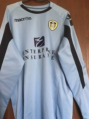 Leeds United Blue Macron Goalkeeper Shirt 2011/12 - Adult XL - Free P&P UK Only