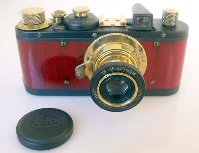 Leica Standard E Russian Copy Camera, Gold & Cherry Wood