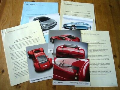 Lexus concepts including Minority Report car press releases & photos, 2000s