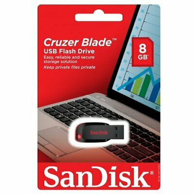 Lot of 5 SanDisk 8G Cruzer Blade CZ50 8GB 8 G GB USB 2.0 Flash Drive Retail