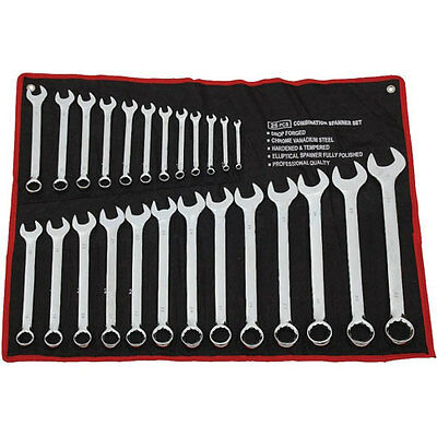 Brand New 25 Piece Combination Durable Spanner Set Metric 6-32mm + Canvas Case