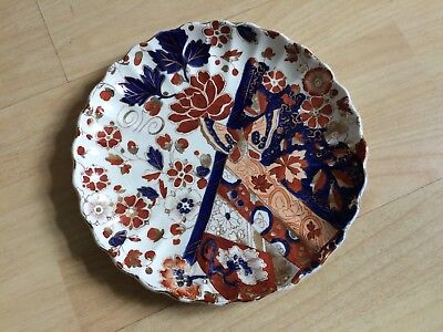 "Victorian Ridgways ""old Derby"" Pattern Imari Coloured Butterfly Flowers Plate"