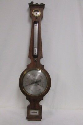 "Antique c. 1848 19th Century Rimondi 38"" Barometer Hygrometer Halifax England UK"