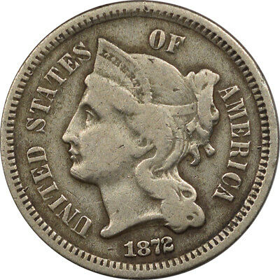 1872 Three Cent Nickel- Pleasing Circulated Example!