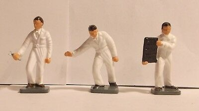 1960s 70s Corgi Toys figures, set of 3 as in GRAND PRIX RACING Gift Set 12