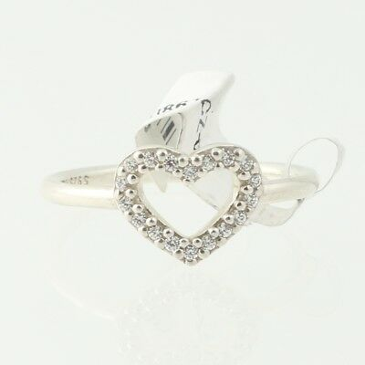 NEW Authentic Pandora Be My Valentine Ring Sterling Heart Clear 60(US 9)190861CZ